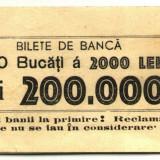 BANDEROLA PENTRU 100 BANCNOTE 2000 2 000 LEI 1943-1945 BANCA ROMANIEI