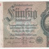 (5) BANCNOTA GERMANIA - 50 MARK (REICHSMARK) 1933 (30 MARTIE) - STARE BUNA - bancnota europa