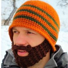 Fes Barbati - Caciula fes cu barba mustata crosetata iarna ski munte haioasa (4 modele) +CADOU