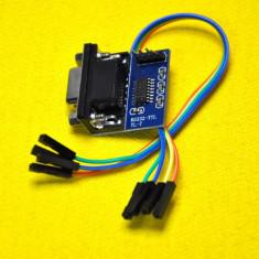 ADAPTOR RS232 To TTL Converter Module COM Serial Board MAX232CSE Transfer Chip atmega16. ARTICOL NOU !!