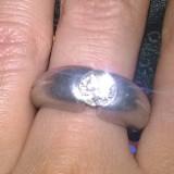 inel argint 925 masiv cu zirconiu solitare!!
