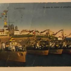 Vapoare de razboi si prinsatoare de mine, Constanta, carte postala / vedere / ilustrata, circulata 1931