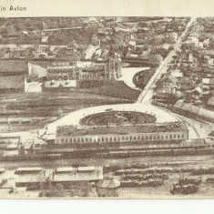 B5 - ILUSTRATA IASI - IASII DIN AVION - GARA - Carte Postala Moldova dupa 1918