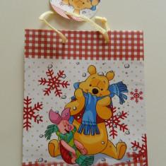 Ornamente Craciun - Plasa de cadouri, Winnie the Pouh, punga cadouri, pungi cadouri, calitate!