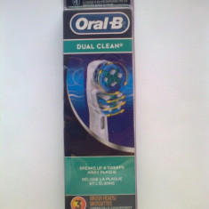 Set de 3 rezerve - capete periuta dinti electrica ORIGINALE DUAL CLEAN BRAUN