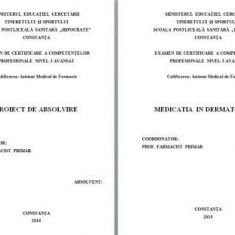 Carte Dermatologie si venerologie - LUCRARE DE LICENTA AMF – MEDICATIA IN DERMATOLOGIE