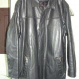 Haina superba piele marime mare 133cm in piept - Geaca barbati, Marime: XXL, Culoare: Negru