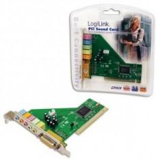 Placa de sunet 5.1 PCI Logilink PC0027B - Placa de sunet PC
