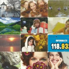 LOT 12 cartele telefonice Romania 1 - Cartela telefonica romaneasca