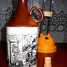 Sticla Whisky din portelan cu capac pictata