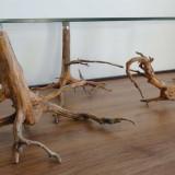 Mobilier, Mese si seturi de masa, Rustic - Deosebita masuta cafea lemn