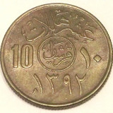G7. ARABIA SAUDITA 10 HALALA AH1392 (1972), 4 g., Copper-Nickel, 21 mm XF **, Asia