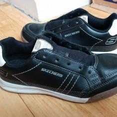 Adidasi din piele firma SKECHERRS marimea 34, purtati o singura data! - Adidasi copii Skechers, Culoare: Negru, Unisex, Piele naturala