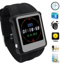 Ceas cu text Ceas Mp4 Mp3, foto, video, 4GB, ebook smartwatch, buton panica - Mp4 playere E-boda, Negru