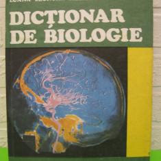 DICTIONAR DE BIOLOGIE de TEOFIL CRACIUN, Editura ALBATROS 1989, COPERTI CARTONATE, stare foarte buna - Carte Biologie