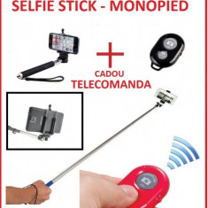 Monopod selfie stick bluetooth cu telecomanda wireless, bat foto selfie baston selfie (wireless mobile phone monopod)