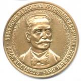 Medalii Romania - MEDALIE PROFESOR ALEXANDRU I LOCUSTEANU SOCIETATEA ROMANA DE MEDICINA VETERINARA RS ROMANIA UNIFATA PROBA??? INVATAMANT MEDICINA