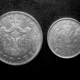 Lot 2 : 200 Lei 1942 + 500 Lei 1944 , argint 6gr.+12gr.