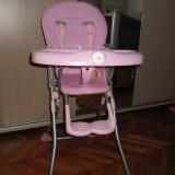 Scaun de masa bebelusi, Plastic, Roz - Scaun masa copil