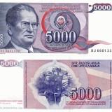 Bancnota Straine, Europa, An: 1985 - IUGOSLAVIA 5.000 dinara 1985 UNC!!!