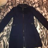 Palton dama Zara, Marime: L, Culoare: Bleumarin