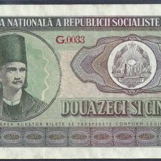 Bancnote Romanesti, An: 1966 - ROMANIA 25 LEI 1966, VF++ [3] P-95a