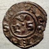 Moneda Medievala, Europa, An: 1400 - C.123 ITALIA ARHIEPISCOPIA RAVENA DENAR SEC. XIV ARGINT/BILLON 0, 57g/16mm