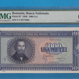 1000 lei 1950 UNC GRADATA MS 64