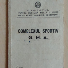 Brevet complexul sportiv G.M.A./ 1952