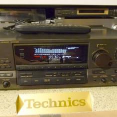 Amplificator audio - Amplituner Technics SA-GX505 spectrum analyzer, loudness telecomanda, poze reale