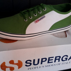Tenisi SUPERGA originali - tenisi panza - adidasi dama-in cutie-37 - Tenisi dama Superga, Culoare: Verde, Textil