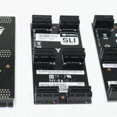 Adaptoare SLI Crossfire 2, 3, 4 way, diverse modele ASUS, MSI, noi, garantie. - Adaptor interfata PC