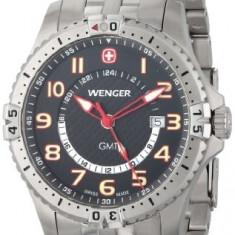 Wenger Men's 77076 Squadron GMT | 100% original, import SUA, 10 zile lucratoare a22207 - Ceas barbatesc