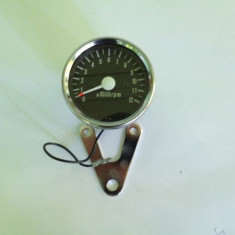 Turometru Crom 60mm, 12000 Rot/min - Nou! - Cablu Turometru Moto