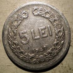 Monede Romania, An: 1949 - B.407 ROMANIA RPR 5 LEI 1949