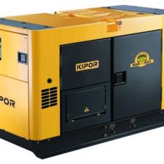 KIPOR generator insonorizat KDE 35 SS3, diesel, 28 kW, fara automatizare - Generator curent