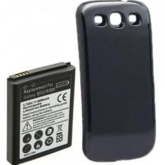 Baterie extinsa 4500 mah + capac spate negru pentru Samsung Galaxy S3 + folie - Baterie telefon Samsung, Samsung Galaxy S3, Li-ion