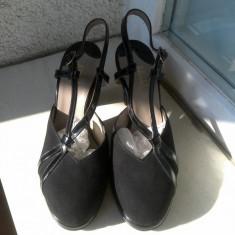 SANDALA ELEGANTA BALLY MARIME 4 1/2 - Sandale dama Bally, Marime: Alta, Culoare: Negru