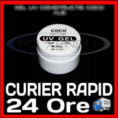 Gel unghii - GEL UV ALB (WHITE) COCO 15ML - CONSTRUCTIE MANICHIURA FRENCH, UNGHII FALSE GEL