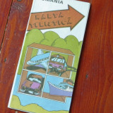 Harta turistica si automobilistica ROMANIA - perioada comunista - anii 80 !!!