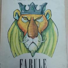 Fabule - La Fontaine/ ilustratii de Eugen Taru - Carte Fabule