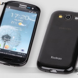 Husa Samsung Galaxy S3 i9300 TPU + Folie by Yoobao Originala Black