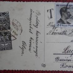 Carte postala - Boldog Karacsony - circulatie cu taxa suplimentara Lugoj - Carte Postala Bucovina dupa 1918, Necirculata