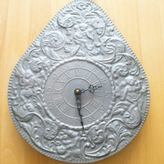 Ceasuri de perete - Ceas de perete metalic (zinc de calitate), mecanism QUARTZ Germania, functional