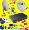 Sistem complet satelit - CAMPING-TIR-RULOTA-kit complet-ANTENA TV FREESAT alimentare 12 v