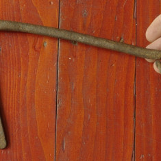 Metal/Fonta - Veche cheie pentru usa / poarta din metal - realizata manual - model rar !!!!