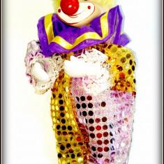 Jucarie de colectie - Arlechin / Clown - papusa mecanica - music box cu cheita