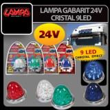 LAMPA GABARIT 24V CRISTAL 9LED DIVERSE CULORI 44 - LG23599
