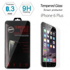 Folie protectie din sticla securizata pt Apple iPhone 6 Plus 9H 0.3mm 2.5D - Folie de protectie