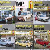 Carti auto - 6 Manuale Haynes. ROVER 2000, IMP, DATSUN CHERRY, FIAT etc. Text in engleza. Noi